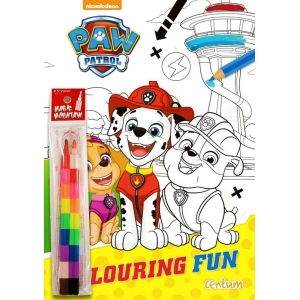 Paw Patrol Colouring Fun Book.  Kids Activity Books Children's Christmas Gift +  ดินสอสีต่อไส้